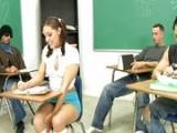 Schoolgirl Fucked First Time By 3 Classmate In The Classroom
